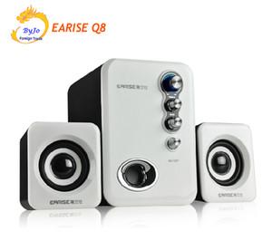 Melhor sistema de áudio EARISE Q8 Alto-falantes De Alta Fidelidade desktop speaker speaker mini speaker computador 2.1 subwoofer alimentado por USB