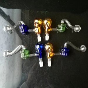 Glass Wholesale Pot Rose Skull , Bone Water Hookah, Glass S Fittings, Pipe Free Shipping Ogqwe