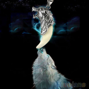 Wholesale-long necklace Trendy Brave Man Wolf Tooth Necklace Titanium Steel Domineering Pendant men Jewelry 01TV