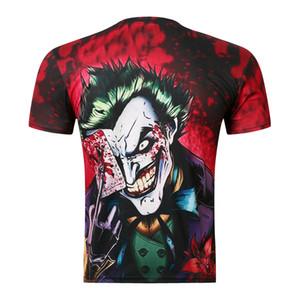 Dark Knight Clown Poker 3D Print shirts رجال طاقم الرقبة أوروبا والولايات المتحدة وبأكمام قصيرة تي شيرت