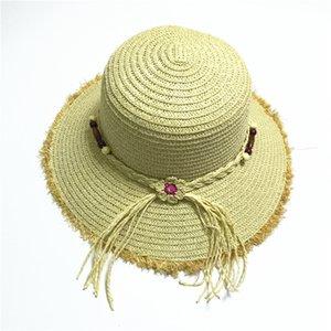 соломенные шляпы соломенная шляпа для дам женщин шляпы, ведро шляпа летом пляж солнце шляпы с цветком , шляпа с бантом