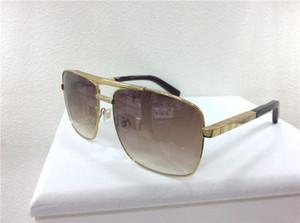 Neue Männer Marke Designer Sonnenbrille Haltung Sonnenbrille quadratisches Logo auf Linse übergroßen Sonnenbrille quadratischen Rahmen im Freien kühlen Deisgn