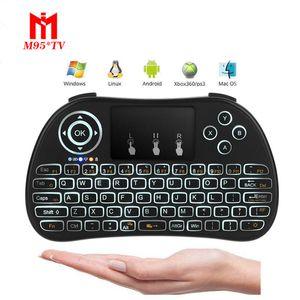 P9 мини беспроводная клавиатура с белой светодиодной подсветкой 2.4 ГГц Fly Air Mouse Remote Controlers touchpad для Android TV Box PC Pad