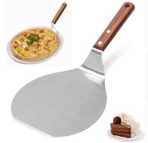 Noel malzemeleri Ahşap Saplı Paslanmaz Çelik Kek Kaldırma Pizza Sunucu Çerez Spatula Büyük Pizza Kürek DHL