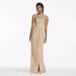 Кружевные платья подружки невесты с металлическим принтом и иллюзией V Back 4XLF15749M Свадебное платье Вечернее платье Вечерние платья