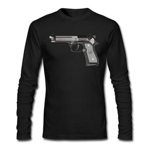 Venta al por mayor- Nueva llegada GUN Camisetas Hombre Causal Tops Imprimir Tees Moda Rock Camisas Otoño Invierno Camisetas