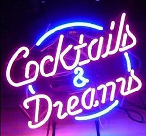 New High Life Neon Sign Beer Bar vrai signe en verre Neon Light Bière Cocktails et signer de nouveaux rêves bière Neon 17x14