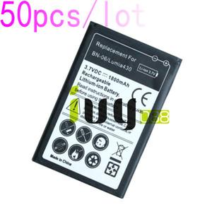 50pcs lot 1800mAh BN-06 BN06 BN 06 Replacement Battery For Microsoft Nokia Lumia 430 Lumia430 Batteries Batteria Batterij