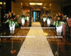 Stand de mariage Walkway Crystal Flower Stand Pillar haut Table de cristal de mariage Centre de table