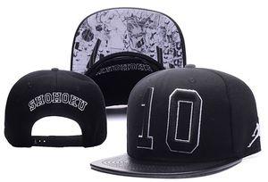 Número 10 SHOHOKU Snapbacks Moda Hip Hop Cap Spackjam Snapback Caps Snap Backs Gorras de béisbol Casual Street Sun Hat Venta