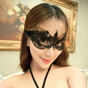 Halloween Sexy Masquerade Masks Black White Lace Masks Venetian Half Face Mask for Christmas Cosplay Party Night Club Ball Eye Masks