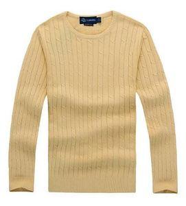 Envío gratis 2018 nueva alta calidad milla wile polo marca hombres suéter de punto jersey de algodón jersey jersey suéter pequeño caballo