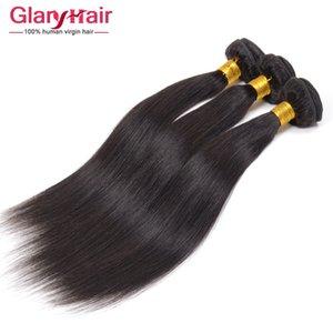 2017 뜨거운 판매 페루 버진 헤어 믹스 길이 5pcs 브라질 버진 인간의 머리카락 묶다 Glary 공장 도매 스트레이트 헤어 제품