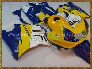 Blu giallo carene bianche + serbatoio per Honda CBR600 F2 1991 1992 1993 1994 CBR600F2 91 92 93 94 CBR600 F2 kit di carene corpo # y29e7