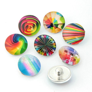 Atacado-10pcs / lot Mixed 18mm Snap Botões Jóias Glassbow Snap Snaps Fit Snaps Pulseiras Ginger Snaps Jóias ou Colar