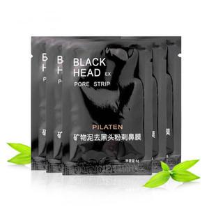 3000pcs PILATEN Minerales Faciales Conk Nariz Removedor de la Espinilla Máscara Facial Máscara Nariz Limpiador de la Espinilla 6g Negro Cabeza EX Poro Tira de DHL Gratis