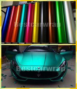 Varios colores cromo mate satinado hielo burbuja del vinilo por el abrigo del coche Cubiertas con aire libre de baja adherencia del pegamento 3M calidad 1.52x20m / 5x67ft rollo