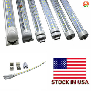 8ft tubes integrated led 72w R17D T8 led light 7200LM Super Bright Cooler Door Led Fluorescent Double line shop lights