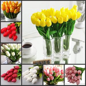 100 pcs lot Tulip Artificial Flower PU Artificial bouquet Real touch flowers For Home Wedding decoratiom Supplies