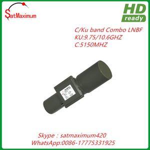 Free shipping HD Digital Ready C KU band universal 9750 10600 combo LNBF