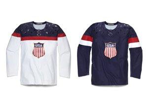 2016 Nuevo Juventud Personalizada 2014 Sochi Olympic USA Team Jersey Cualquier Nombre Cualquier Número Rojo Juvenil Hockey sobre hielo Customs Jerseys todo cosido