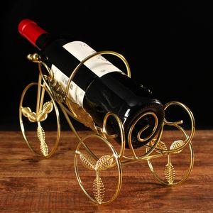 2020 Fashion tricycle iron art wine rack European creative wine rack classic high-end living room wine rack