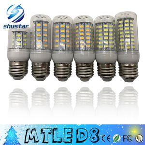 SMD 5730 E27 E14 G9 LED GU10 lâmpada 7W 12W 15W 18W 220V 110V 360 ângulo 5730 Ultra Bright LED milho bulbo lâmpadas luz do candelabro