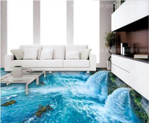 papeles de pared decoración para el hogar Sea World Bathroom Kitchen 3D Floor wallpaper para baños