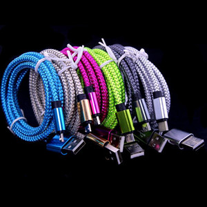 Braided Fabric cable micro V8 5pin usb data charger cable Free 25cm 1m 2m 3m Aluminium Alloy cable for samsung s4 s6 s7 for htc lg sony