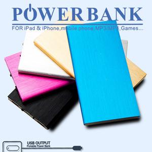 Para Iphone7 Fuente de alimentación del cargador de teléfono móvil con polímero de metal ultrafino 8000 miliamperios tesoro de carga móvil de gran capacidad