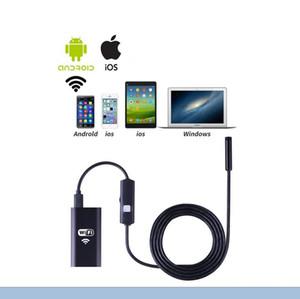 WiFi EndoscopyEletryc Wifi Endoscope 720P HD con 8mm Lens 6 LED Inspección impermeable Cámara Borescope Cámara iOS / Android Snake Flexible C