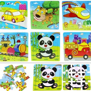 유치원 어린이 나무 퍼즐 장난감 퍼즐 9 조각 동물 만화 다양한 선택의 작은 선물 선물 도매