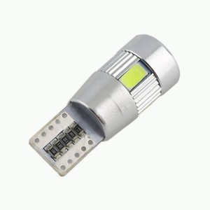 Auto car T10 LED Bulb HID XENON White light CANBUS W5W 5630 6-SMD parking fog light Lamp 194 192 158
