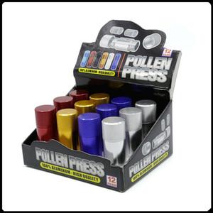 Aluminio polen Prensa Presser Grinder Accesorios Hierba