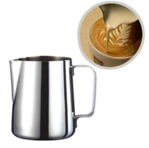 Herramienta de la flor del tirón del acero inoxidable Taza de la guirnalda de espuma Taza de café de la leche Cappuccino Herramientas de cocina espresso Frothers Latte