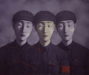Encadré, beaucoup de gros, Artisanat de portraits Pure Handcraft art Zhang Xiaogang peinture à l'huile sur toile de haute qualité en lin de coton multi tailles, R186 #