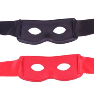 Wholesale- Red Black Party Mask Men Women Villain Joke Bandit Zorro Eye Mask Theme Party Masquerade Costume Halloween Supplies Hot Sell