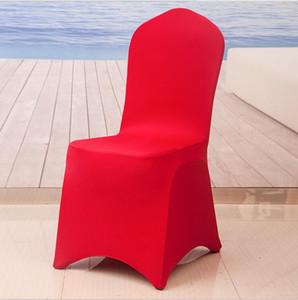Evrensel Spandex Sandalye Kapak Düz Ön Stretch Spandex Likra Sandalye Kapak For Otel Ziyafet Düğün festivali Dekorasyon kapakları