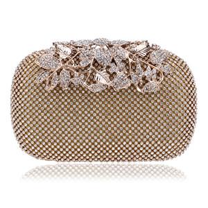 2017 Hot Verkauf beiden Seiten Diamant-Blumen-Kristall Abendtasche Clutch Upscale Styling-Tag erfasst Lady Hochzeit Geldbörse