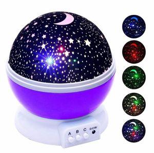 مصباح نجوم السماء المزدانة بالنجوم LED ليلة ضوء العارض Luminaria القمر الجدة الجدول ليلة البطارية ضوء USB ليلة للأطفال