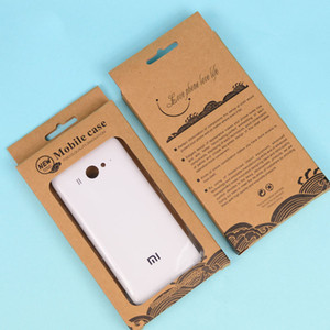 NUEVA Blister Kraft Craft Paper Retail Package Packaging Box para iPhone 4 5 5S 6 Plus Samsung S3 S4 S5 Note 2 3 4 Estuche para teléfono móvil DHL Gratis