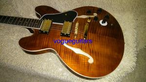 Высокое качество коричневый 335 джаз полу полые электрогитара музыкальные инструменты