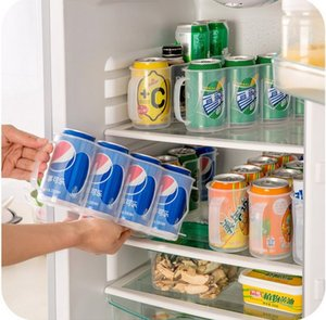 Nouveaux accessoires de cuisine Coke Drink Canette de bière Bidons à encombrement réduit Finition Cadre 4 Boîte de rangement Réfrigérateur Boîte de rangement Gadget