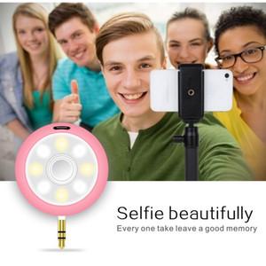2017 led fotografia flash de luz holofotes câmera do telefone preencha em luz selfie + 3.5mm speaker portátil amplificador de áudio para o telefone móvel
