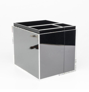 2017 classic high-grade acrylic toiletry compose 3 grid storage box   cosmetic Multifunction storage with gift box