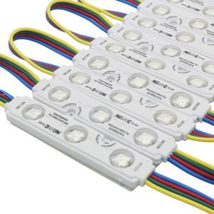 Edison2011 2017 New 5050 RGB 3LEDs Injection Led Module 12V 0.75W RGB LED Módulos com Lens Waterproof frete grátis