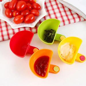 4 Renkler Dip Klipler Mutfak Kase Kiti Aracı Küçük Domates Sosu Tuz Sirke Yemekleri Baharat Klip Şeker Lezzet Baharat Pişirme Araçları