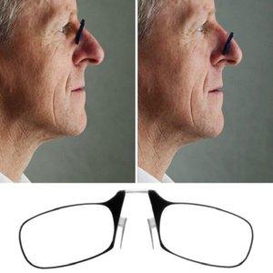 من السهل حمل كليب الأنف نظارات القراءة الرجال النساء نظارات البسيطة تدور البصريات طويل النظر مع نظارات القراءة رقيقة جدا + 1.5 + 2.0