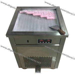 Бесплатная доставка из нержавеющей стали 110 в 220 В электрический 50 см тайский один квадратный сковороде мороженое прокат йогурт чайник Жареное мороженое ролл машина