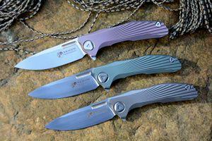 Ücretsiz kargo Kevin John Venom yeni konsept bıçak S35VN bıçak katlanır bıçak planya rulman titanyum kolu survival açık bıçaklar araçları
